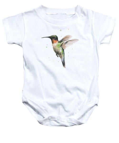 Hummingbird Baby Onesie by Olga Shvartsur