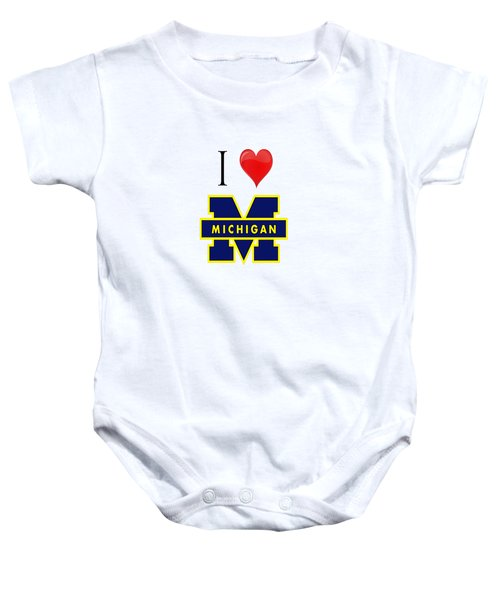 I Love Michigan Baby Onesie by Pat Cook