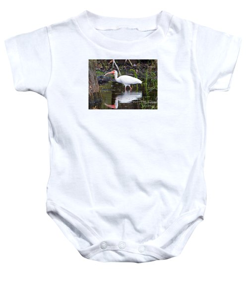 Ibis Drink Baby Onesie by Mike Dawson
