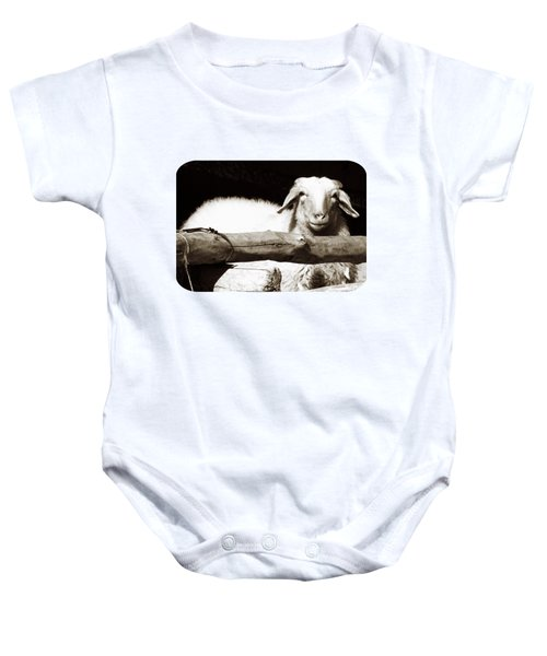 In The Pen Baby Onesie by Ethna Gillespie