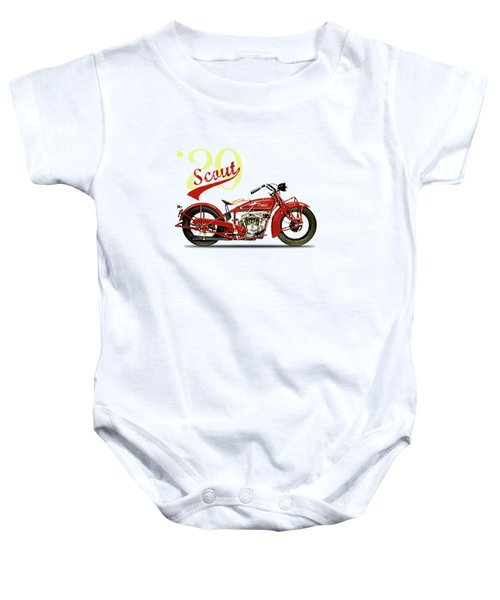 Indian Scout 101 1929 Baby Onesie by Mark Rogan