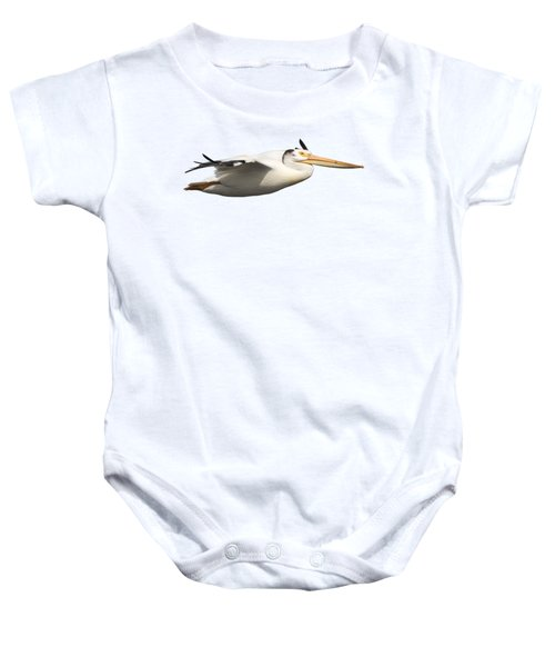 Isolated Pelican 2016-1 Baby Onesie by Thomas Young
