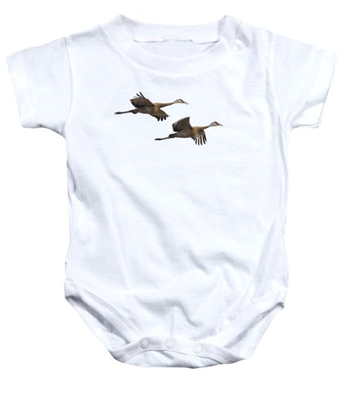 Isolated Sandhill Cranes 2016-1 Baby Onesie by Thomas Young