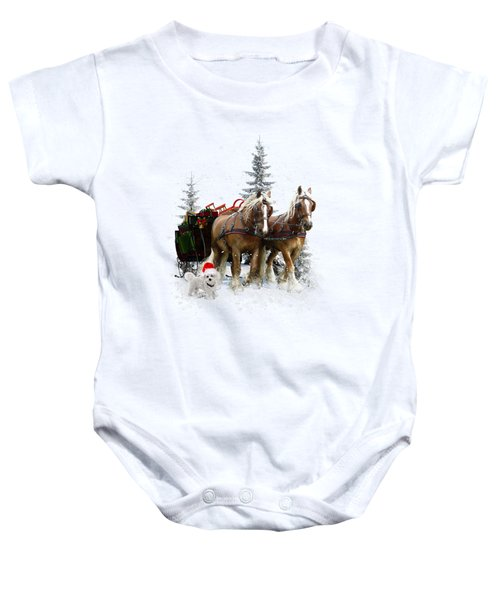 A Christmas Wish Baby Onesie by Shanina Conway