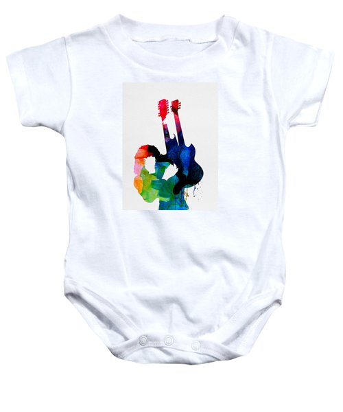 Jimmy Watercolor Baby Onesie by Naxart Studio