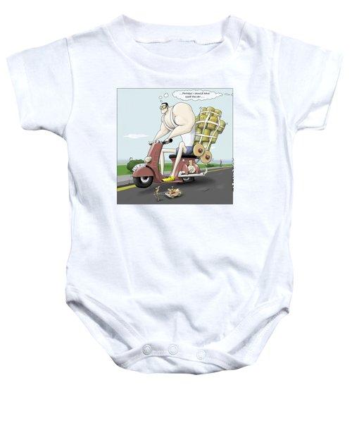 Jim's Shopping Trip Baby Onesie by Kris Burton-Shea