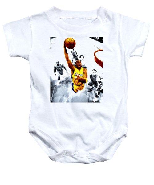 Kobe Bryant Took Flight Baby Onesie by Brian Reaves