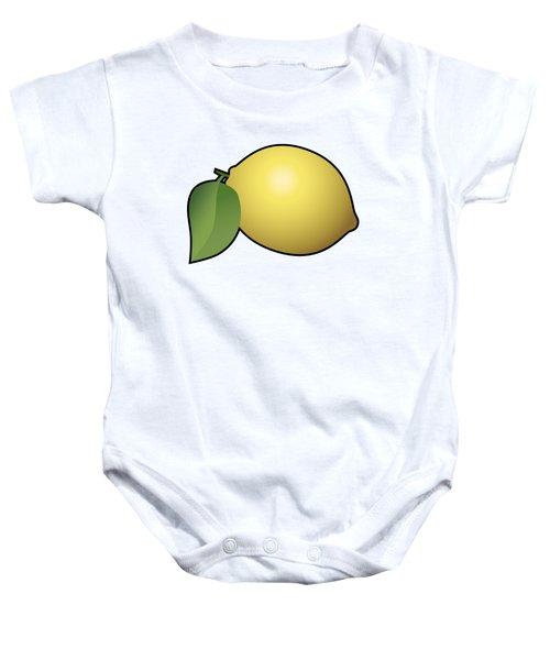 Lemon Fruit Outlined Baby Onesie by Miroslav Nemecek