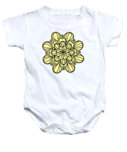Lemon Lily Mandala Baby Onesie by Georgiana Romanovna