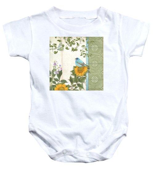 Les Magnifiques Fleurs Iv - Secret Garden Baby Onesie by Audrey Jeanne Roberts
