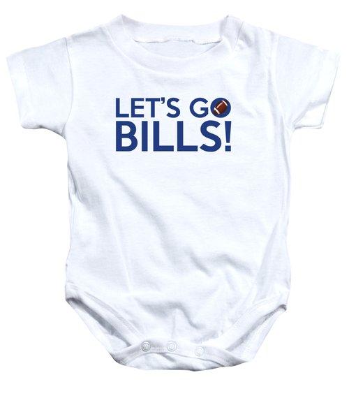 Let's Go Bills Baby Onesie by Florian Rodarte