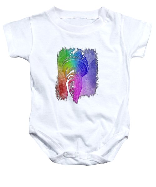 Light The Path Cool Rainbow 3 Dimensional Baby Onesie by Di Designs