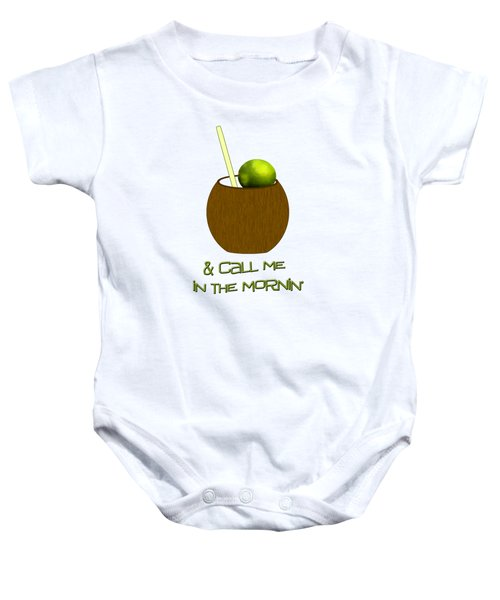 Lime In The Coconut Baby Onesie by Methune Hively