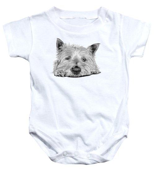 Little Dog Baby Onesie by Sarah Batalka