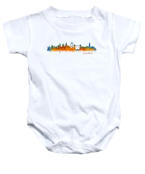 London City Skyline Hq V2 Baby Onesie by HQ Photo