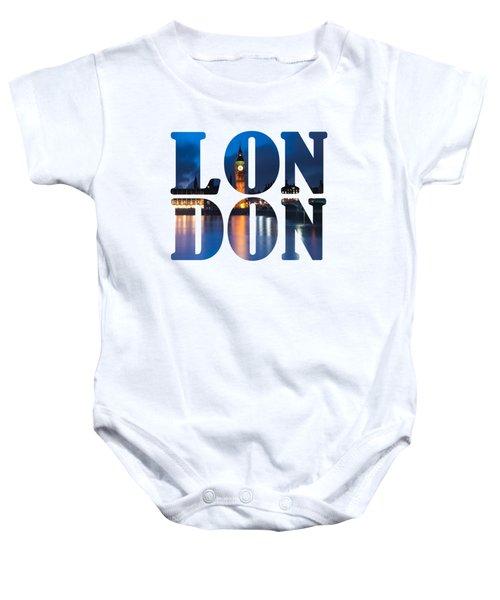 London Letters Baby Onesie by Matt Malloy