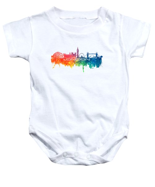 London Skyline City Color Baby Onesie by Justyna JBJart