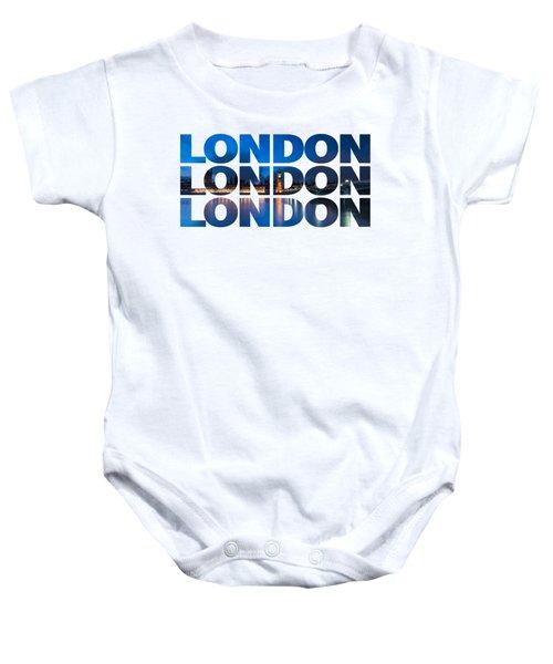 London Text Baby Onesie by Matt Malloy