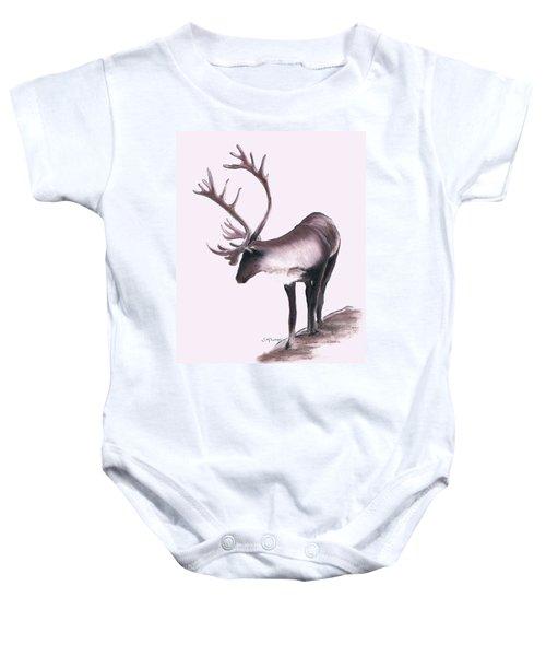 Lone Caribou Baby Onesie by Jane M Lucas
