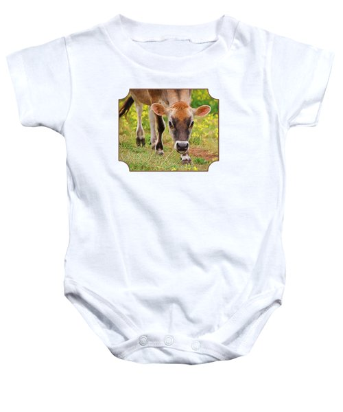 Look Into My Eyes - Painterly Baby Onesie by Gill Billington