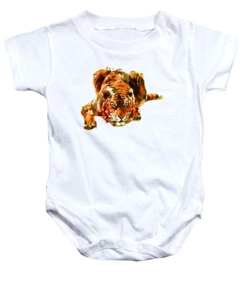 Lurking Tiger Baby Onesie by Marian Voicu