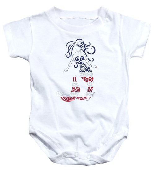 Made In The Usa Tribal Mermaid Baby Onesie by Heather Schaefer