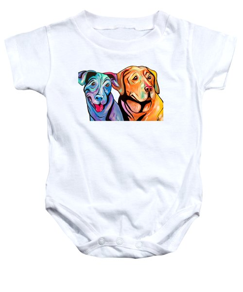 Maggie And Raven Baby Onesie by Abbi Kay