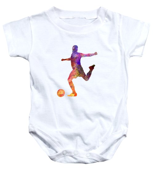 Man Soccer Football Player 03 Baby Onesie by Pablo Romero