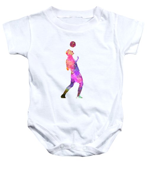 Man Soccer Football Player 06 Baby Onesie by Pablo Romero