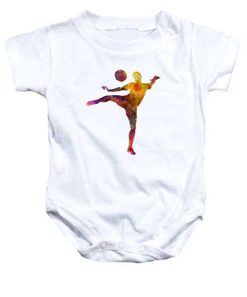 Man Soccer Football Player 07 Baby Onesie by Pablo Romero