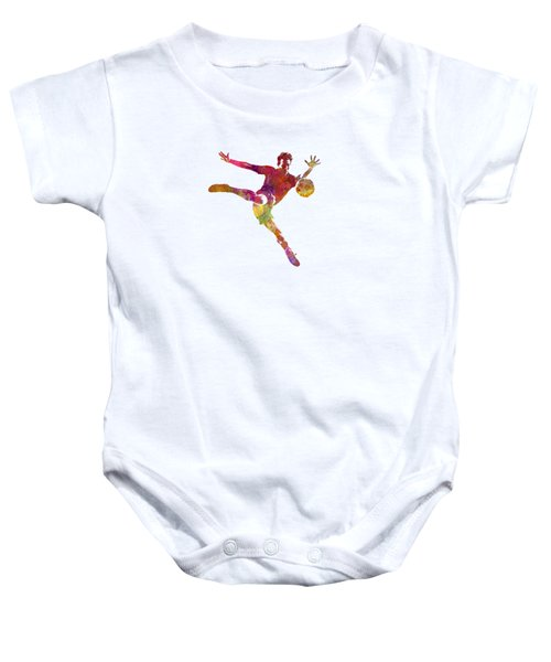 Man Soccer Football Player 08 Baby Onesie by Pablo Romero