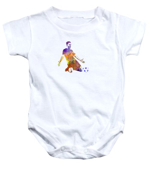 Man Soccer Football Player 13 Baby Onesie by Pablo Romero