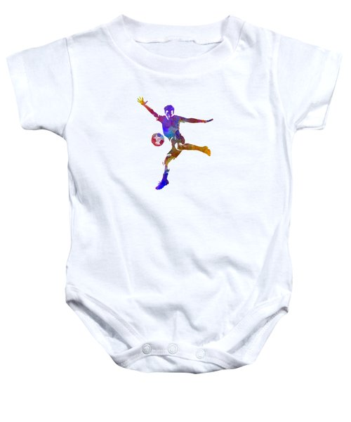 Man Soccer Football Player 14 Baby Onesie by Pablo Romero