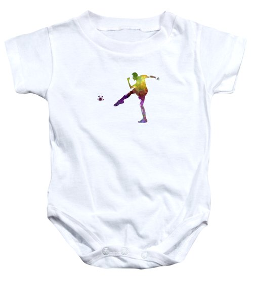 Man Soccer Football Player 15 Baby Onesie by Pablo Romero