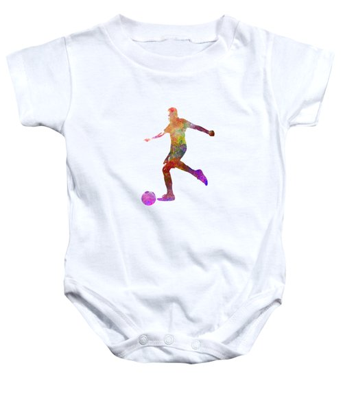 Man Soccer Football Player 16 Baby Onesie by Pablo Romero