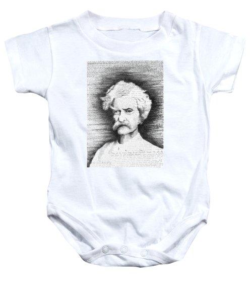 Mark Twain In His Own Words Baby Onesie by Phil Vance
