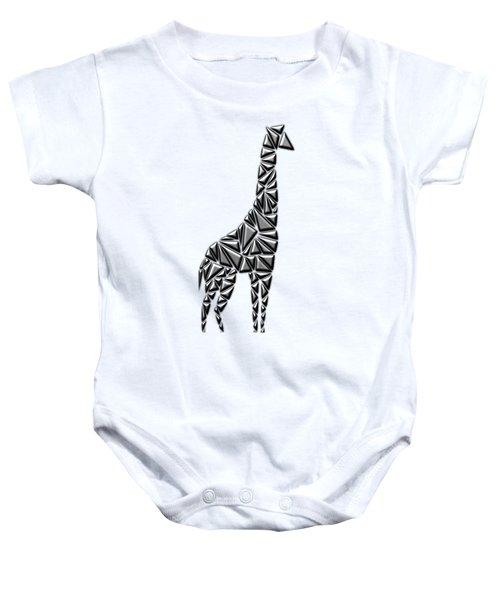 Metallic Giraffe Baby Onesie by Chris Butler