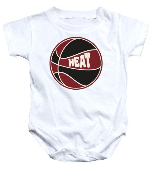 Miami Heat Retro Shirt Baby Onesie by Joe Hamilton
