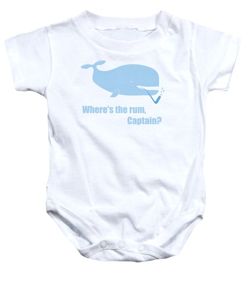 Moby Dick Or The Whale Baby Onesie by Frank Tschakert