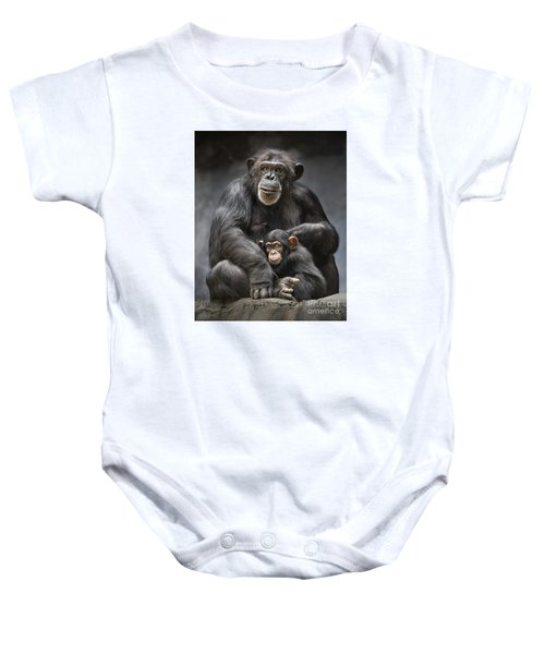Mom And Baby Baby Onesie by Jamie Pham