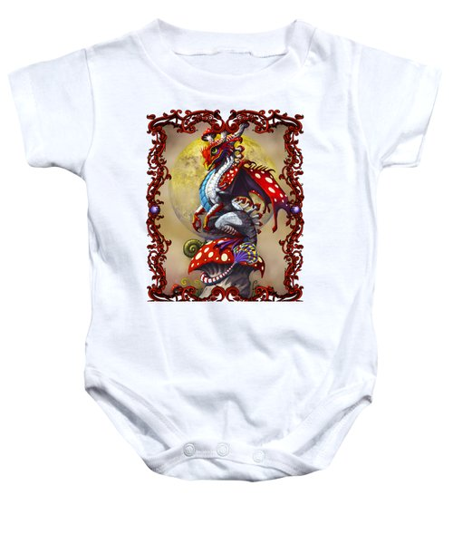 Mushroom Dragon T-shirts Baby Onesie by Stanley Morrison