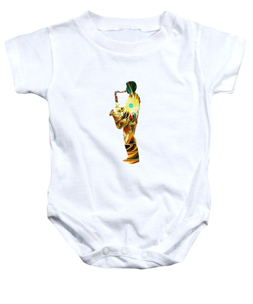 Music - From The Heart Baby Onesie by Anastasiya Malakhova