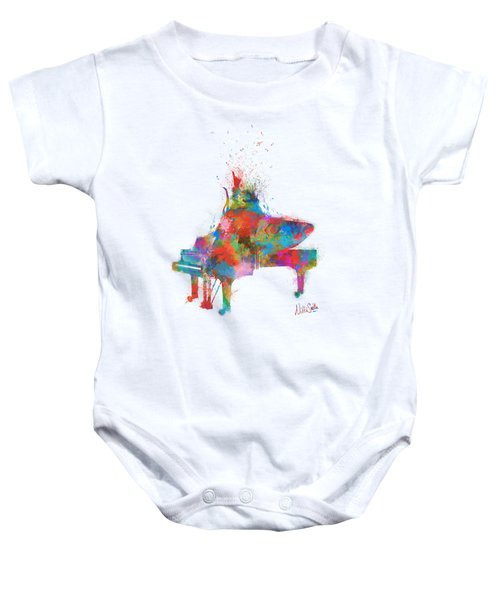 Music Strikes Fire From The Heart Baby Onesie by Nikki Marie Smith