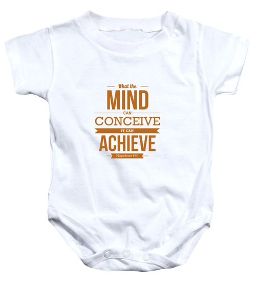 Napoleon Hill Typography Art Quotes Poster Baby Onesie by Lab No 4 - The Quotography Department
