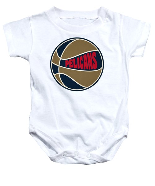 New Orleans Pelicans Retro Shirt Baby Onesie by Joe Hamilton