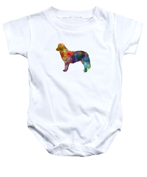 Nova Scotia Duck Tolling Retriever In Watercolor Baby Onesie by Pablo Romero