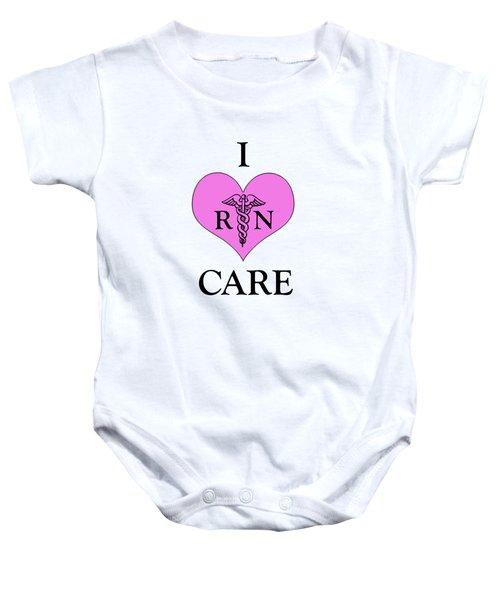 Nursing I Care -  Pink Baby Onesie by Mark Kiver