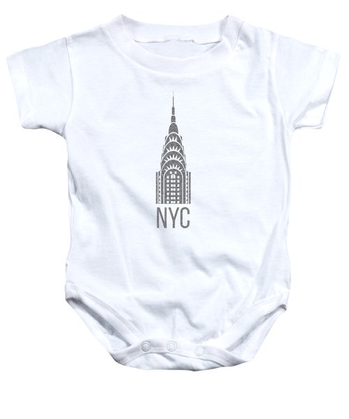 Nyc New York City Graphic Baby Onesie by Edward Fielding