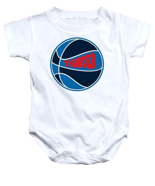 Oklahoma City Thunder Retro Shirt Baby Onesie by Joe Hamilton