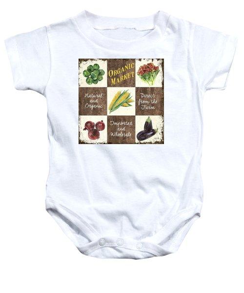 Organic Market Patch Baby Onesie by Debbie DeWitt